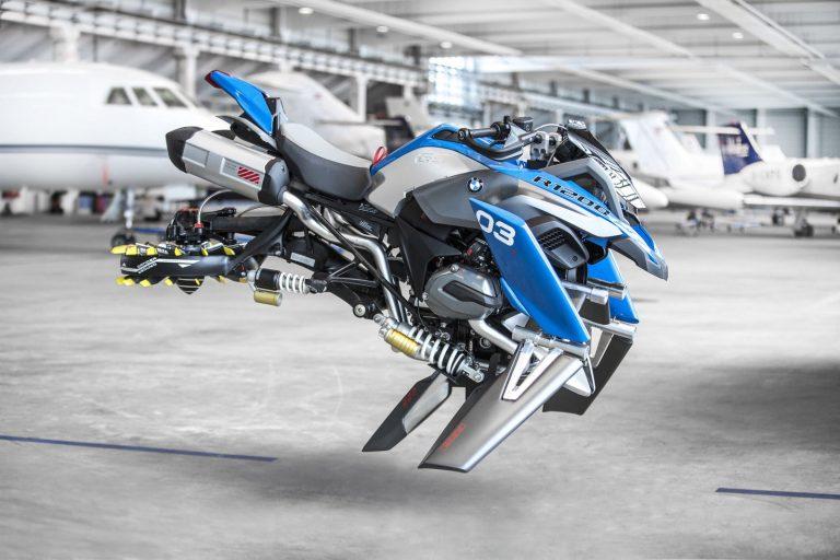 La conception d'une moto volante bmw